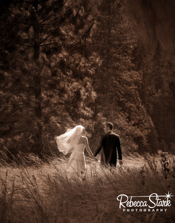 couple in Yosemite wedding